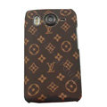 LV Louis Vuitton Hard Cases Color Covers for HTC Desire HD G10 A9191 A9192 - Brown