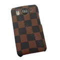 LV Louis Vuitton Hard Cases Color Covers for HTC Desire HD G10 A9191 A9192 - Coffee