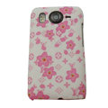 LV Louis Vuitton Hard Cases Color Covers for HTC Desire HD G10 A9191 A9192 - White
