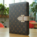 LV Louis Vuitton Smart Cover Wake Sleep Leather Case Skin for iPad 2 / The New iPad - Brown