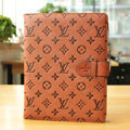 LV Louis Vuitton Smart Cover Wake Sleep Leather Case for iPad 2 / The New iPad - Brown