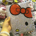Luxry Bling Hello Kitty crystal cases diamond hard covers for iPad 2 / The New iPad - White