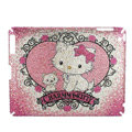 Luxry Bling covers Charmmy Kitty diamond crystal hard cases for iPad 2 / The New iPad - Pink