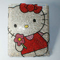 Luxry Bling covers Hello Kitty crystal diamond hard cases for iPad 2 / The New iPad - White
