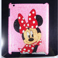 Minnie Mouse Bling Crystal Cases Diamond Rhinestone Hard Covers for iPad 2 / The New iPad - Pink