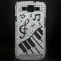 Music Bling Crystal Cover Diamond Rhinestone Cases For Samsung Galaxy S III 3 i9300 I9308 - White