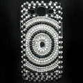 Round Bling Crystal Cover Diamond Rhinestone Cases For Samsung Galaxy S III 3 i9300 I9308 - Black