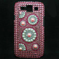 Round Bling Crystal Covers Rhinestone Diamond Cases For Samsung Galaxy S III 3 i9300 I9308 - Pink