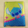 Stitch Bling Crystal Cases Diamond Rhinestone Hard Covers for iPad 2 / The New iPad - Blue