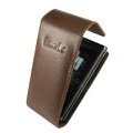 IMAK Flip leather Cases Holster Covers for Sony Ericsson Aino U10i - Brown