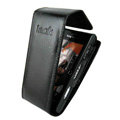 IMAK Flip leather Cases Holster Covers for Sony Ericsson Satio U1 Idou - Black