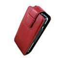 IMAK Flip leather Cases Holster Covers for Sony Ericsson Xperia X1 - Red