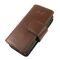 IMAK Side Flip leather Cases Holster Covers for Sony Ericsson Aino U10i - Brown