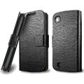IMAK Slim leather Cases Luxury Holster Covers for Lenovo A520 - Black
