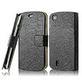 IMAK Slim leather Cases Luxury Holster Covers for Lenovo A780 - Black