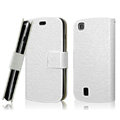 IMAK Slim leather Cases Luxury Holster Covers for Lenovo A780 - White