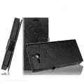 IMAK Slim leather Cases Luxury Holster Covers for Sony Ericsson ST25i Xperia U - Black