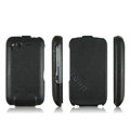 IMAK leather Cases Simple Holster Covers for HTC Desire S G12 S510e - Black