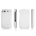 IMAK leather Cases Simple Holster Covers for HTC Desire S G12 S510e - White