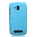 Nillkin Colorful Hard Cases Skin Covers for Nokia Lumia 610 - Blue (High transparent screen protector)