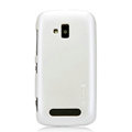 Nillkin Colorful Hard Cases Skin Covers for Nokia Lumia 610 - White (High transparent screen protector)