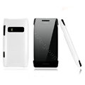 Nillkin Colorful Hard Cases Skin Covers for Nokia X7 X7-00 - White (High transparent screen protector)