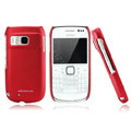 Nillkin Super Matte Hard Cases Skin Covers for Nokia E6 - Red (High transparent screen protector)
