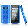 Nillkin Super Matte Rainbow Cases Skin Covers for Nokia 500 - Blue (High transparent screen protector)