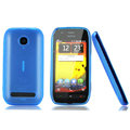 Nillkin Super Matte Rainbow Cases Skin Covers for Nokia 603 - Blue (High transparent screen protector)
