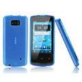 Nillkin Super Matte Rainbow Cases Skin Covers for Nokia 700 - Blue (High transparent screen protector)
