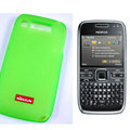 Nillkin Transparent Matte Soft Cases Covers for Nokia E72 - Green (High transparent screen protector)