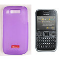 Nillkin Transparent Matte Soft Cases Covers for Nokia E72 - Purple (High transparent screen protector)