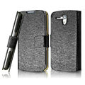 IMAK Slim leather Cases Luxury Holster Covers for Huawei U8818 Ascend G300 - Black