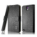 IMAK Slim leather Cases Luxury Holster Covers for Huawei U9500 Ascend D1 - Black
