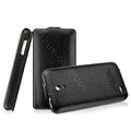 IMAK The Count leather Cases Luxury Holster Covers for Huawei S8600 Spark - Black (High transparent screen protector)