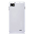 Nillkin Colorful Hard Cases Skin Covers for Lenovo LePhone K860 - White (High transparent screen protector)