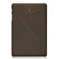Nillkin Super Matte Hard Cases Skin Covers for Huawei MediaPad - Brown (High transparent screen protector)