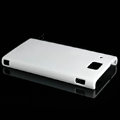 Nillkin Super Matte Hard Cases Skin Covers for Huawei U9000 Ideos X6 - White (High transparent screen protector)