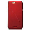Nillkin Super Matte Hard Cases Skin Covers for Lenovo LePad S2005 - Red (High transparent screen protector)