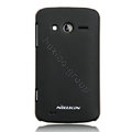 Nillkin Super Matte Hard Cases Skin Covers for Philips W626 - Black (High transparent screen protector)