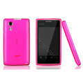 Nillkin Super Matte Rainbow Cases Skin Covers for Amoi N79 - Pink (High transparent screen protector)