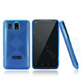 Nillkin Super Matte Rainbow Cases Skin Covers for K-touch E800 - Blue (High transparent screen protector)
