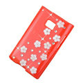 Bling Flower Crystal Cover Diamond Cases for LG Optimus L3 E400 - Red