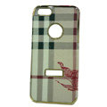 Burberry Luxury leather Cases Hard Back Covers for iPhone 5 - Beige