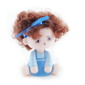 Car decoration Auto accessories ornaments dimensional Moss shook his head doll - Blue girl