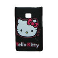 Cartoon Hello kitty Matte Cases Hard Covers for LG Optimus L3 E400 - Black