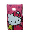 Cartoon Hello kitty Matte Cases Hard Covers for LG Optimus L3 E400 - Rose