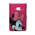 Cartoon Minnie Mouse Matte Cases Hard Covers for LG Optimus L3 E400 - Rose