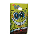 Cartoon SpongeBob Matte Cases Hard Covers for LG Optimus L3 E400 - Yellow