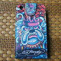 Ed Hardy Dog Flip leather Cases Holster Covers for iPhone 3G/3GS - Blue